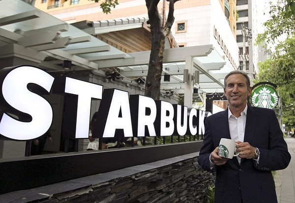 CEO starbucks coffee Howard Schultz